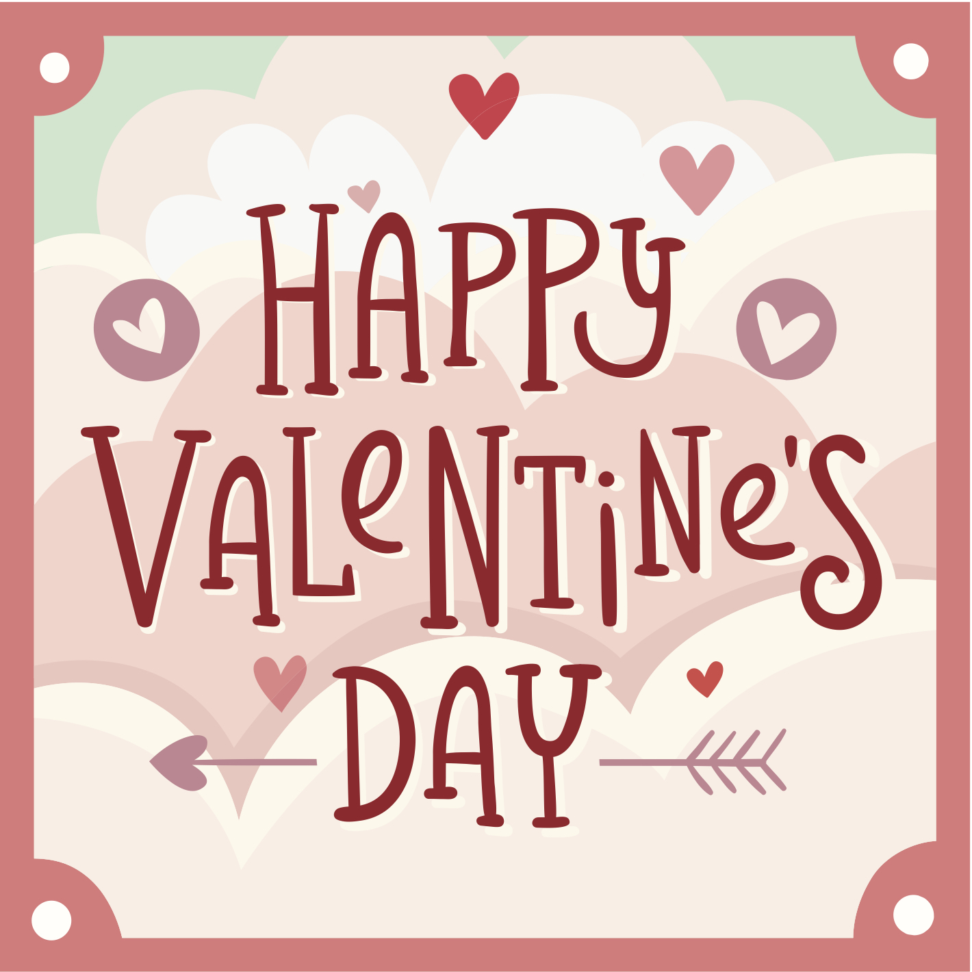 Valentine's Day eCard with text and hearts and arrows